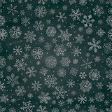 Chalk Drawing Snowflake Doodles Seamless Background