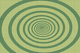 The green spiral pop art background
