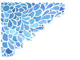 Vector Watercolor Blue Floral Pattern