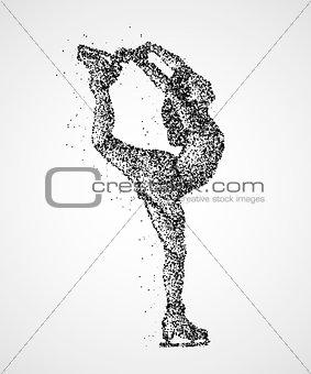 abstraction, skating, athlete