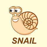Snail vector illustration. logo, sign, symbol, icon.