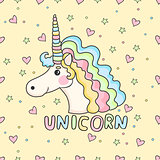 Funny pattern unicorn.