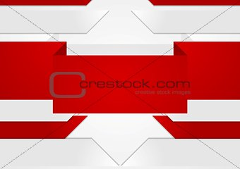 Abstract red grey geometric tech background