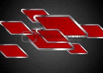 Abstract tech metallic vector background