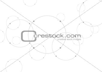Abstract grey tech background with circles