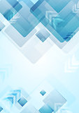 Tech geometric background with squares and arrows