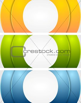 Abstract bright corporate vector banners