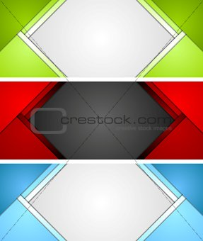 Abstract corporate material banners design