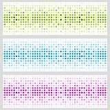 Abstract shiny light circles vector banners