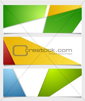 Abstract corporate minimal banners