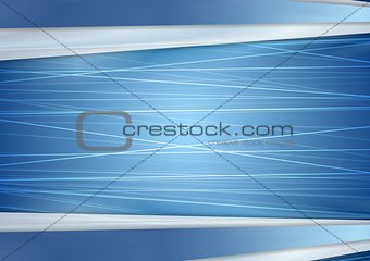 Abstract bright blue background with lines