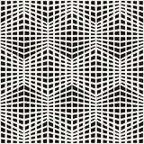 Vector Seamless Black and White Halftone Rectangle Grid Pattern