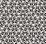 Vector Seamless Black and White Irregular Triangle Grid Pattern