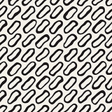 Vector Seamless Black and White Diagonal Lines Pattern