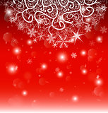 New Year Eve, Christmas background. The curtain of patterns and snowflakes.
