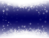 New Year Eve, Christmas background with snowflakes and snow drifts.
