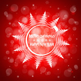 Christmas light vector background. Card or invitation.