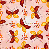 Gradient autumn seamless pattern