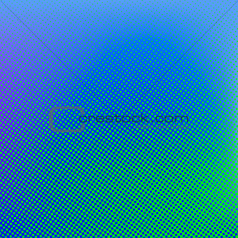 Green blue vector halftone background