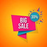 Sale vector, special offer 30 off