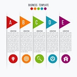 Vector arrows infographic. Template for diagram