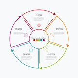 Thin line infographic element