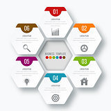 Vector illustration infographics six options.
