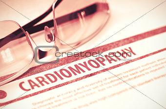 Cardiomyopathy. Medicine. 3D Illustration.
