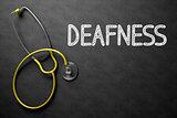 Deafness on Chalkboard. 3D Illustration.