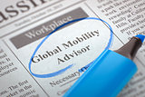Global Mobility Advisor Join Our Team. 3D Rendering.