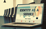 Identity As A Service on Laptop in Conference Room. 3D Illustration.