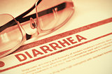 Diagnosis - Diarrhea. Medical Concept. 3D Illustration.