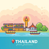 Thailand Travel Destination Concept