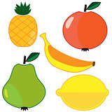 Vector fruits set