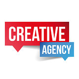 Creative Agency lettering speech bubble