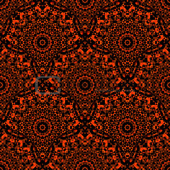 Abstract Seamless Red Orange Black Geometric Vector.