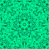Abstract Seamless Green Geometric Pattern