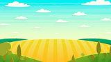 Natural landscape Cartoon vector illustration