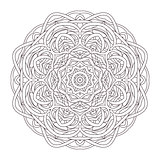 Mandala. Vintage hand drawn round lace design