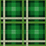 Seamless pattern as a knitted fabric in green and white
