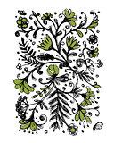Floral pattern, sketch for your design