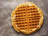 rustic golden plain waffle