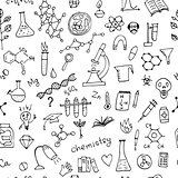 Chemistry background, seamless pattern for your design