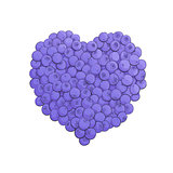 Blueberry heart shape