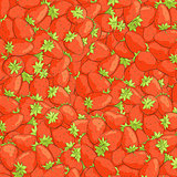 texture of juicy strawberries