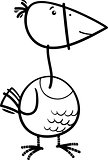 bird cartoon coloring page
