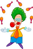 clown juggler cartoon
