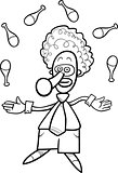 clown juggler coloring book