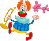 clown with trumpet cartoon