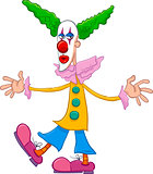 circus clown character cartoon